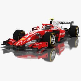 Formula 2 Low-poly PBR 3D models
