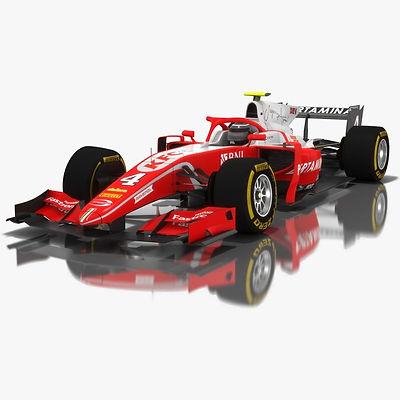Pertamina Prema Theodore Racing Formula 2 Season 2018 3D model