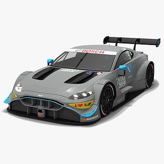 Aston Martin Vantage DTM Season 2019 Low-poly 3D model