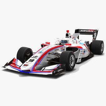 Itochu Enex Team Impul #19 Super Formula Season 2019 Low-poly 3D model