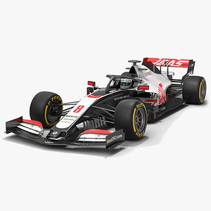 Haas F1 Team Formula 1 Season 2020 Low-poly PBR  3D model