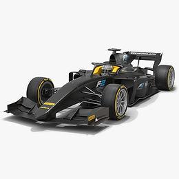 Formula 2 Dallara F2 Season 2020 Low-poly PBR 3D model