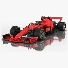 Formula 1 Low-poly PBR 3D models