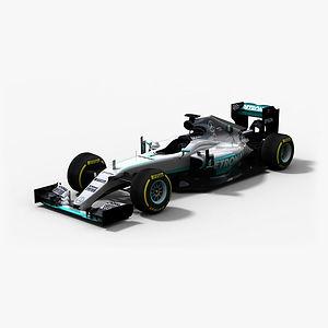 Mercedes F1 Team W07 Hybrid Season 2016 3D model