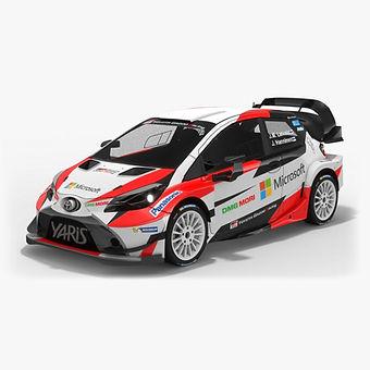 Toyota Yaris WRC 2017 Low-poly PBR 3D model