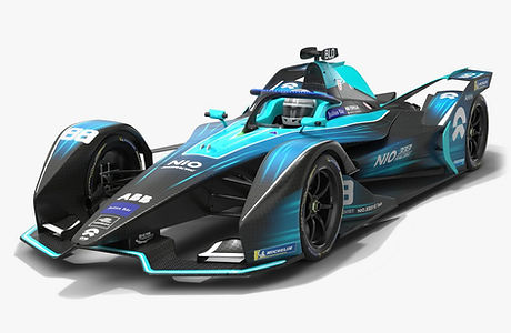 NIO 333 FE Team Formula E Season 2020 2021 Race Car Low-poly PBR 3D model