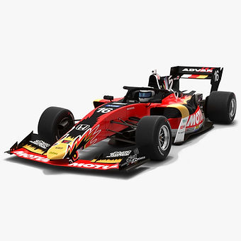 Team Mugen #16 Super Formula Season 2019 Low-poly 3D model