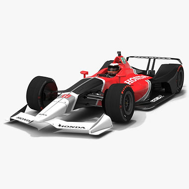 Dallara Honda DW12 NEXT Season 2018 Low-poly 3D model
