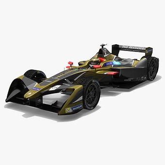 Techeetah Formula E Season 2017 2018 3D model
