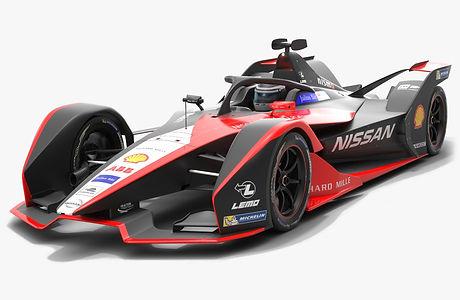 Nissan e.dams Formula E Season 2019 2020 Low-poly PBR 3D model
