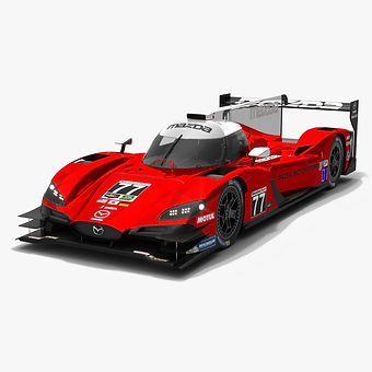 Mazda RT24-P IMSA WeatherTech 2019 Low-poly 3D model