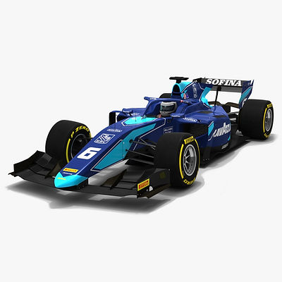 DAMS F2 #6 Formula 2 Season 2019 Low-poly PBR 3D model