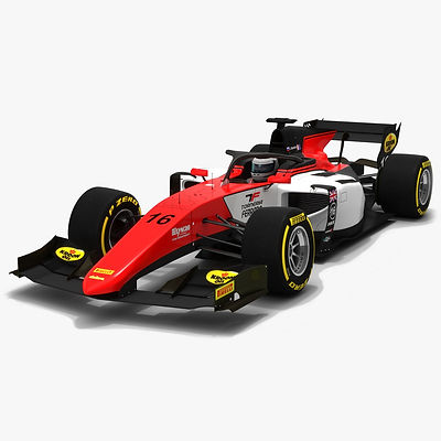 MP Motorsport F2 #16 Formula 2 Season 2019 Low-poly 3D model
