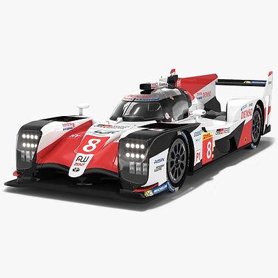 Toyota Gazoo Racing TS050 Hybrid LMP1 WEC Season 2018 2019 3D model