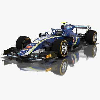 Carlin Formula 2 Season 2018 3D model