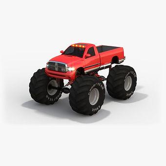 Monster Truck Dodge Ram Low-poly 3D model