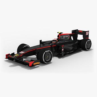Rapax Formula 2 Season 2017 3D model