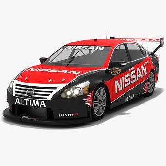Nissan Altima L33 V8 Supercars Season 2018 Revealed Version Low-poly 3D model