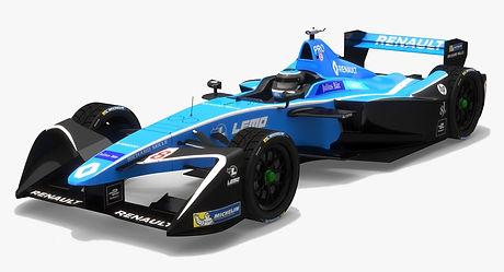 Renault e.dams Z.E.17 Formula E Season 2017 2018 3D model