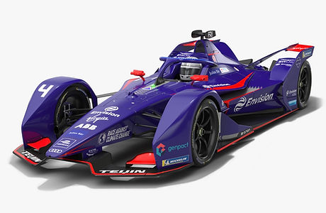 Envision Virgin Racing Formula E Season 2020 2021 Race Car Low-poly PBR 3D model