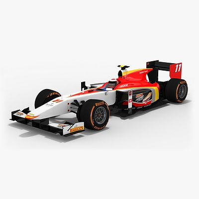 Campos Racing Formula 2 Season 2017 3D model