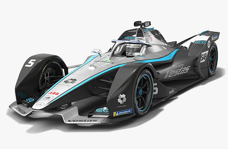 Mercedes-Benz EQ Formula E Team Season 2020 2021 Race Car Low-poly PBR 3D model