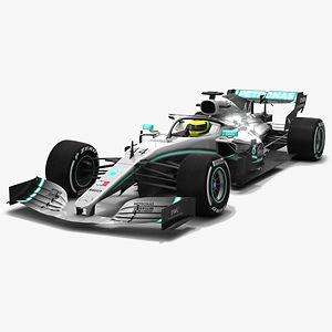 Mercedes F1 W10 EQ Power+ Formula 1 Season 2019 3D model