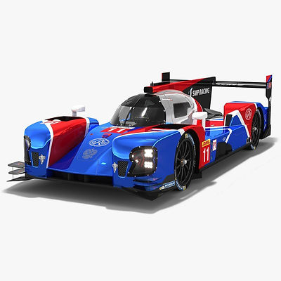 SMP Racing BR Engineering BR1 LMP1 WEC Season 2018 2019 3D model