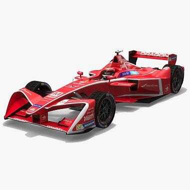 Dragon Racing Formula E Season 2017 2018 3D model
