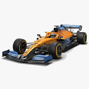McLaren F1 MCL35 Formula 1 Season 2020 Low-poly PBR  3D model