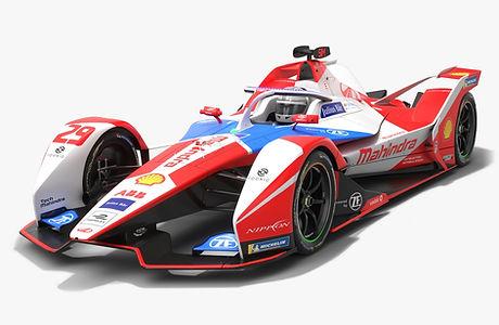 Mahindra Racing Formula E Team Season 2020 2021 Race Car Low-poly PBR 3D model