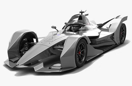 Generic Formula E Race Car Season 2018 2019 3D model