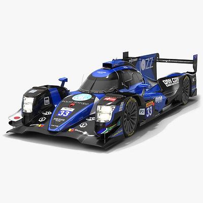 High Class Racing WEC LMP2 Season 2019 2020 Low-poly PBR 3D model