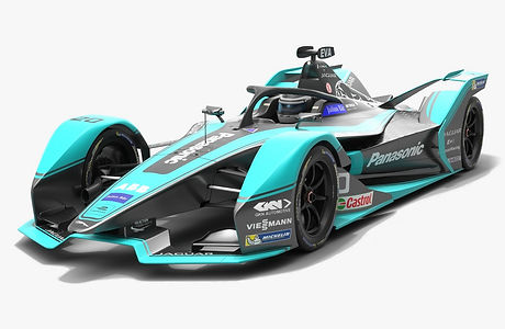Panasonic Jaguar Racing Formula E Season 2019 2020 Low-poly PBR 3D model