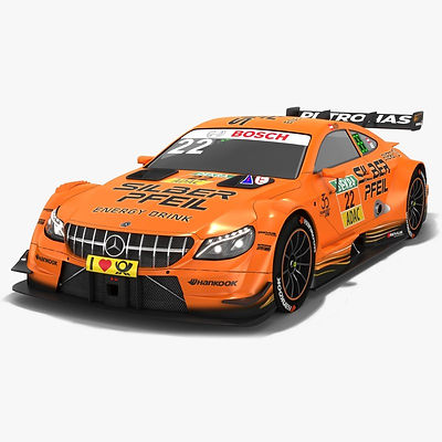 Mercedes-AMG C63 DTM #22 Lucas Auer Season 2018 3D model