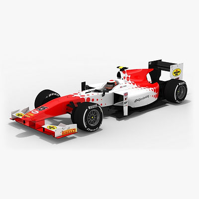 MP Motorsport Formula 2 Season 2017 3D model