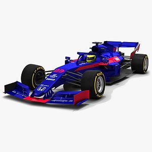 Scuderia Toro Rosso Honda STR14 Formula 1 F1 Season 2019 3D model
