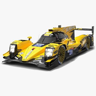 Racing Team Nederland WEC LMP2 Season 2019 2020 Low-poly PBR 3D model
