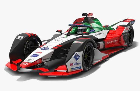 Audi Sport ABT Schaeffler Formula E Season 2020 2021 Race Car Low-poly PBR 3D model