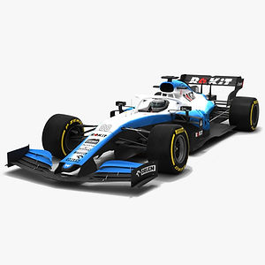 Williams F1 FW42 Formula 1 Season 2019 Low-poly 3D model