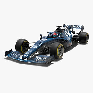 Alpha Tauri F1 2021 AT02 Formula 1 race car Low-poly PBR  3D model