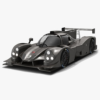 Ligier JS P3 IMSA Prototype Challenge Season 2019 Low-poly 3D model