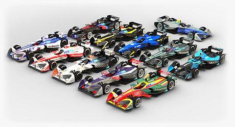 Formula E season 2016 2017 3D model