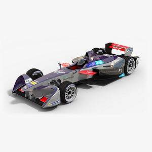 DS Virgin Racing Formula E Season 2016 2017 3D model