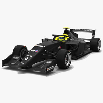 Formula Renault Eurocup Tatuus Season 2019 low-poly PBR 3D model