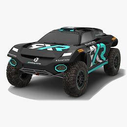 Rosberg Xtreme Racing Extreme E Season 2021 race car Low-poly PBR 3D model