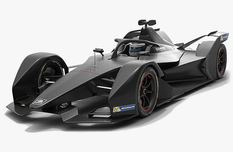 Formula E Gen2 Season 2019 2020 Low-poly PBR 3D model