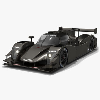 Adess 03 EVO ELMS LMP3 2020 Low-poly PBR 3D model