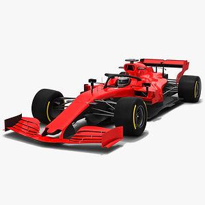 Formula 1 Season 2019 F1 Race Car 3D model