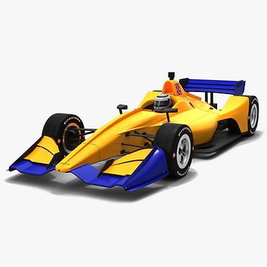 Dallara DW12 2019 Road Course Race Car Low-poly 3D model